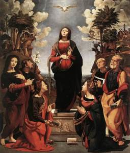 Mary and Holy Spirit. Incarnatiion